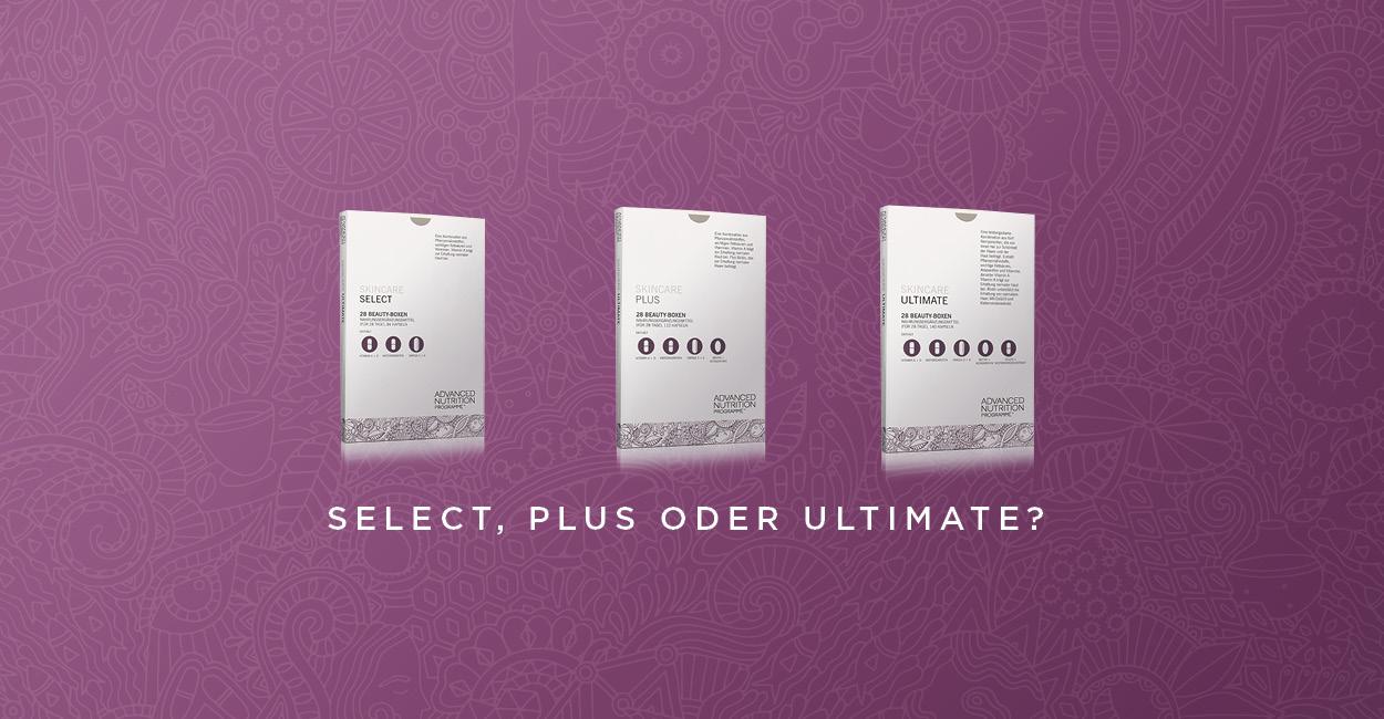 Advanced Nutrition Programme Skincare Boxen Select, Plus, Ultimate